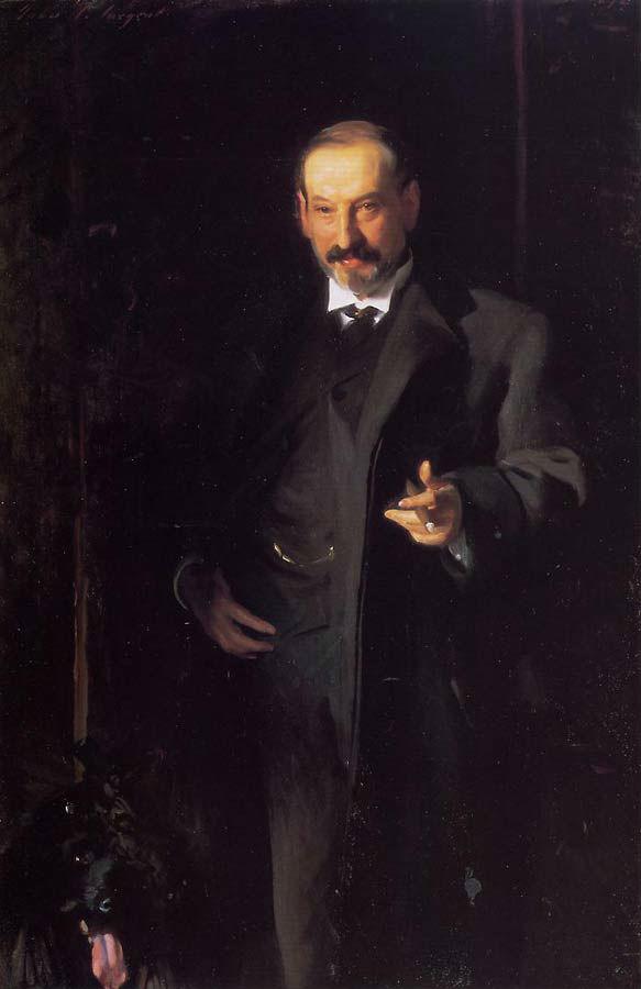 Kunsthandelaar Asher Wertheim geportretteeerd door John Singer Sargent, 1898 (Publiek Domein - wiki)