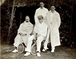 Britse en Belgische Davis Cup-teams in 1904 (Publiek Domein - wiki)