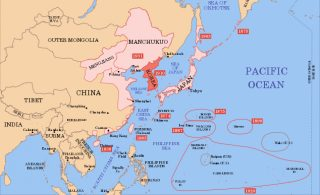Aan de Japanse bezetting van Korea in 1910 gingen bezettingen vooraf van o.a. het Russische eiland Sachalin en een reeks eilanden in de Stille Oceaan. De Japanse veroveringen in de Tweede Wereldoorlog moesten nog volgen. (Wikipedia CC BY-SA 3.0)