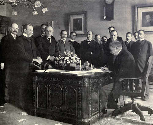Ondertekening van het verdrag van Parijs