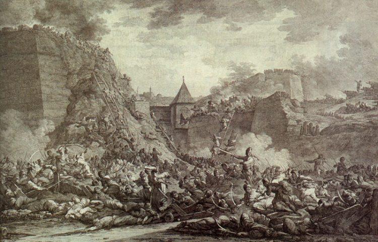 Bestorming van Otsjakiv, een treffen uit dezelfde Russisch-Turkse Oorlog (1787-1792) waarbij wél een tegenstander betrokken was