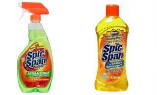 Twee flessen Spic and Span