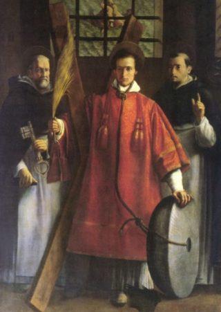 Vincentius van Zaragoza, zeventiende-eeuwse afbeelding (Publiek Domein - wiki)