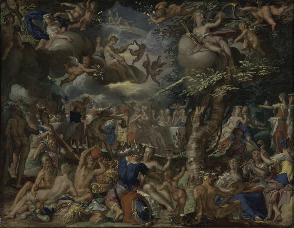 'De bruiloft van Cupido en Psyche' - Joachim Wtewael, ca.1602 (Centraal Museum)