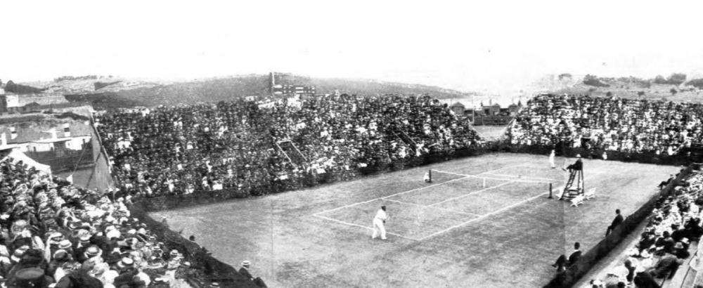 Davis Cup in 1909 (Publiek Domein - State Library of Victoria - wiki)