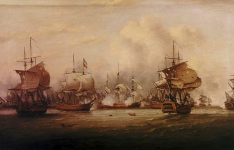 Slag bij de Doggersbank, 5 augustus 1781 - Thomas Luny (Publiek Domein - wiki)
