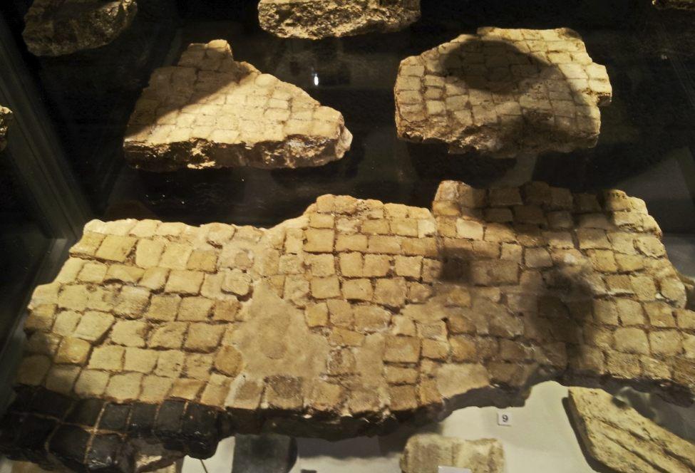 Restanten van een mozaïekvloer in het Thermenmuseum (CC BY-SA 4.0 - Kleon3 - wiki)
