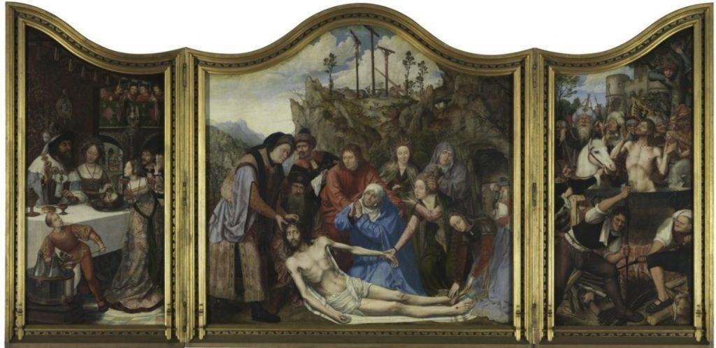 Altaarstuk van het schrijnwerkerambacht, Quinten Massijs, (1511), Koninklijk Museum voor Schone Kunsten Antwerpen (CC0 - wiki)