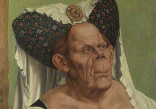 Portret van een groteske oude vrouw - Quinten Massijs (detail)