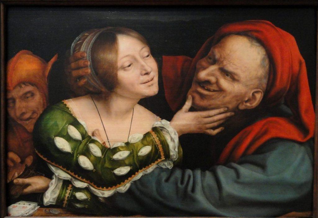 Ongelijke liefde, ca. 1525, National Gallery of Art - Quinten Massijs (Publiek Domein - wiki)