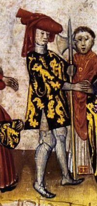 Jan I van Brabant, op een miniatuur uit een manuscript van de Brabantsche Yeesten (Publiek Domein - wiki)