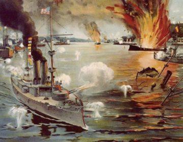 Slag in de Baai van Manilla - Onderdeel van de Spaans-Amerikaanse Oorlog (Publiek Domein - wiki)