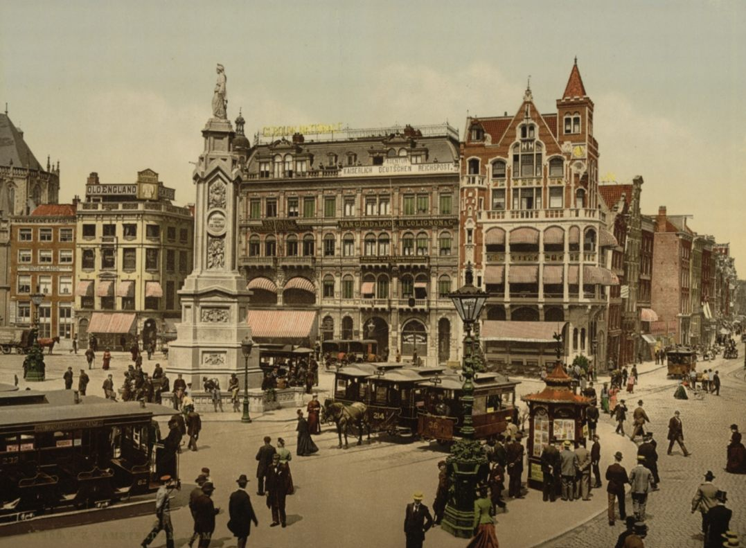 Naatje van de Dam rond 1890 - Photochrom (Library of Congress)