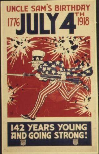 Uncle Sam op een poster uit 1918 (Publiek Domein - wiki)
