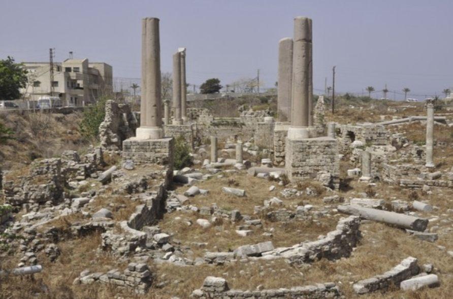 Tyrus, de resten van de kerk waar Paulus tot bisschop werd gewijd