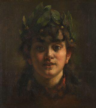 Meisje met lauwerkrans, 1889 - Arthur Briët (Collectie Wiegman)