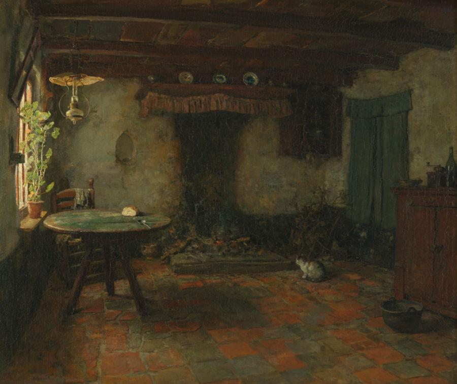 Schildershut van Arthur Briët in Nunspeet (via Noord-Veluws Museum)