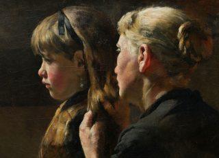 Suusje aankleden - Arthur Briët (Collectie Noord-Veluws Museum)