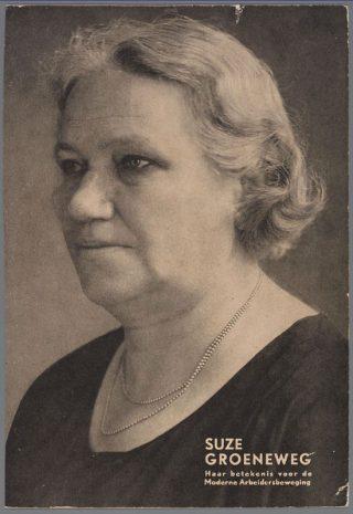 Suze Groeneweg, 1918 (Publiek Domein - IISG)