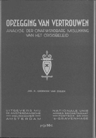 Publicatie van Rob Groeninx van Zoelen