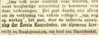 Fragment uit het artikel in de Leeuwarder Courant van oktober 1913 (delpher)