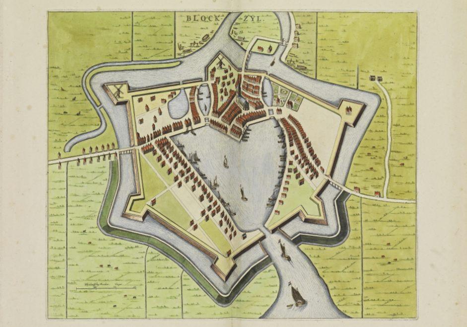 Blokzijl in het Stedenboek van Frederick de Wit (Publiek Domein - wiki)