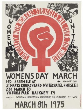 Poster voor Internationale Vrouwendag, 1975 (Publiek Domein - wiki)