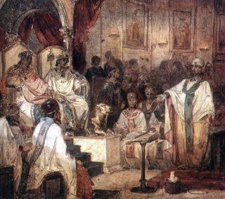 Concilie van Chalcedon volgens Vasily Surikov (Publiek Domein - wiki)