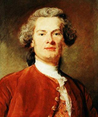Jean-Baptiste Perronneau, zelfportret 1745 (Publiek Domein - wiki)
