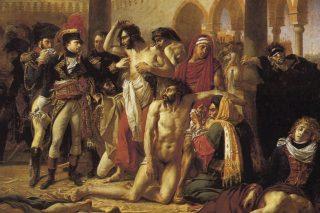 Bonaparte visitant les pestiférés de Jaffa (Bonaparte bij de pestlijders van Jaffa)