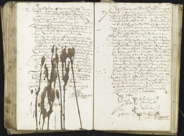 Handschrift Notaris Hendrik Schaef, 1644 (Stadsarchief Amsterdam)