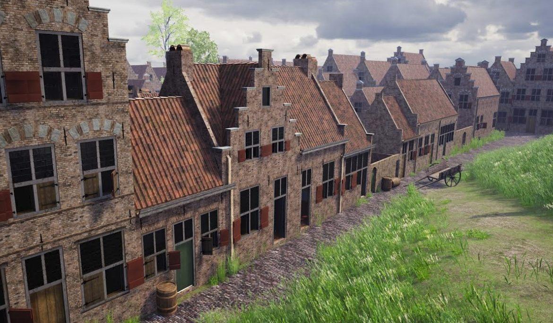 Het geboortehuis van Rembrandt in Leiden - Afb: Erfgoed Leiden / Matthijs de Rijk