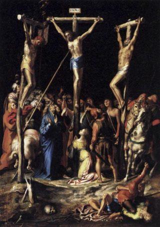 Kruisiging - Pieter de Kempeneer, Louvre (Publiek Domein - wiki)