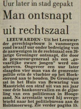 Leeuwarder courant - 07 februari  1985 (Delpher)