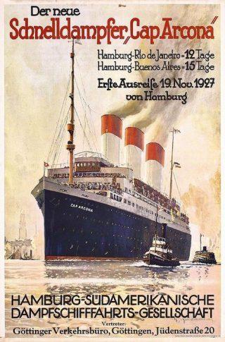 Cap Arcona op een poster (Archief Krake)