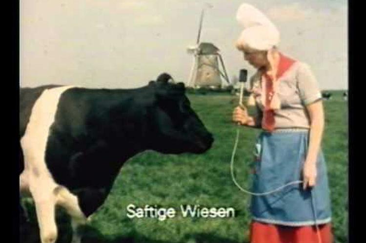 Frau Antje in een oude reclame (Still YouTube)