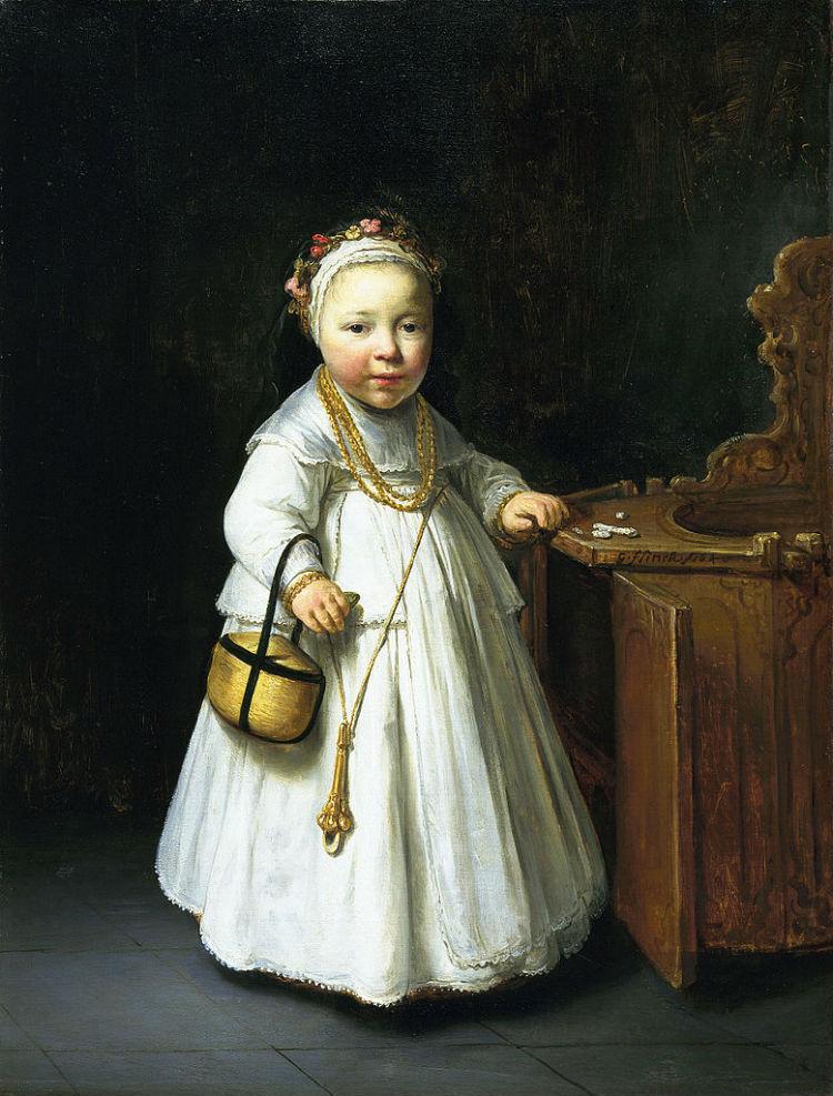 Meisje bij een kinderstoel - Govert Flinck (Collectie Mauritshuis)