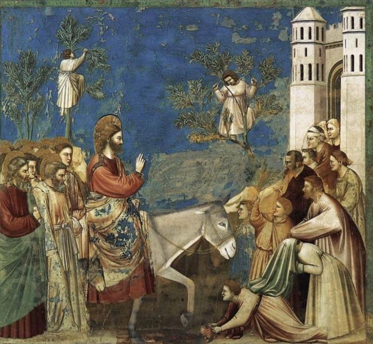 Jezus komt Jeruzalem binnen (Publiek Domein - wiki)
