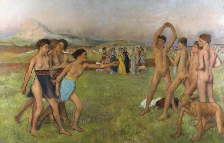Jonge Spartanen in training - Edgar Degas (Publiek Domein - wiki)
