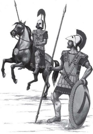 Spartaanse krijgers (CC BY-SA 4.0 - Omicroñ'R - wiki)
