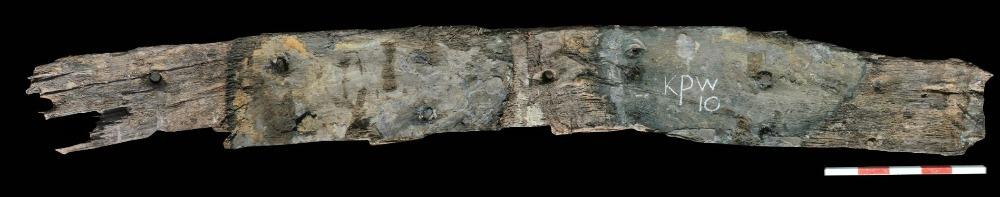 Een van de gevonden balken (Foto RCE)