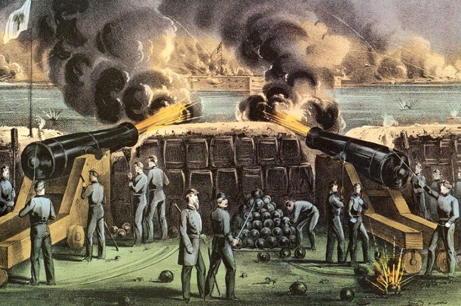 Aanval op Fort Sumter (Publiek Domein - wiki)