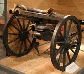 Gatling Gun uit 1865 (Publiek Domein - wiki)