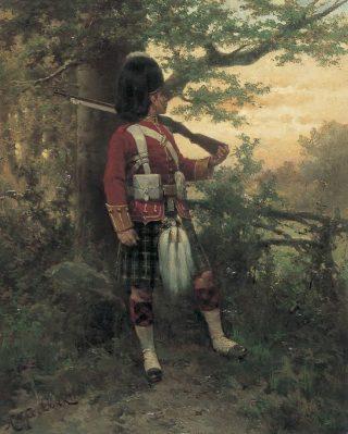Argyle en Sutherland Highlander - Hermanus Willem Koekkoek (Publiek Domein - wiki)