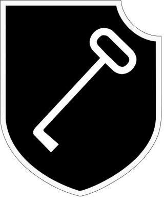 Embleem van het Duitse 1. SS Panzerdivision Leibstandarte SS Adolf Hitler (LSSAH)