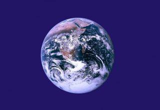 Onofficiële vlag van de 'Dag van de Aarde' (Publiek Domein - John McConnell)