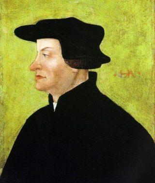 Huldrych Zwingli geportretteerd door Hans Asper (Publiek Domein - wiki)
