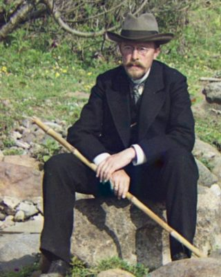 Zelfportret van Sergej Prokoedin-Gorski, 1915 (Publiek Domien - wiki)