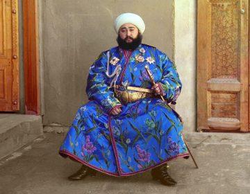 Alim Khan (1880-1944), emir van Buchara - Sergej Prokoedin-Gorski (Publiek Domein - wiki)