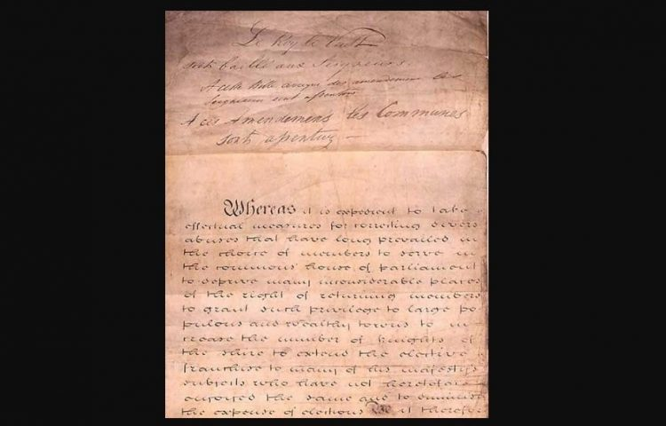 Reform Bill / Reform Act, 1832 (Wiki Commons)